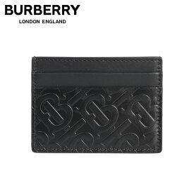 【最大600円OFFクーポン】 BURBERRY バーバリー カードケース 名刺入れ 定期入れ メンズ MONOGRAM SANDON CARD HOLDER ブラック 黒 8017648