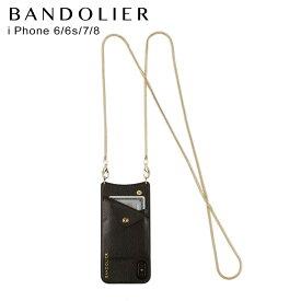 バンドリヤー BANDOLIER iPhone SE SE2 8 7 6s 6 ケース スマホ 携帯 アイフォン レディース BELINDA GOLD ブラック 黒 2002