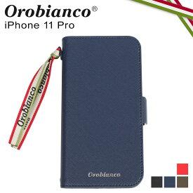 Orobianco オロビアンコ iPhone11 Pro ケース スマホ 携帯 手帳型 アイフォン メンズ レディース サフィアーノ調 PU LEATHER BOOK TYPE CASE ブラック ネイビー カーキ レッド 黒