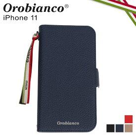 Orobianco オロビアンコ iPhone11 ケース スマホ 携帯 手帳 アイフォン メンズ レディース シュリンク PU LEATHER BOOK TYPE CASE ブラック ネイビー グレージュ レッド 黒