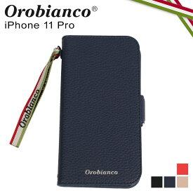 Orobianco オロビアンコ iPhone11 Pro ケース スマホ 携帯 手帳 アイフォン メンズ レディース シュリンク PU LEATHER BOOK TYPE CASE ブラック ネイビー グレージュ レッド 黒