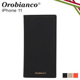 Orobianco オロビアンコ iPhone11 ケース スマホ 携帯 手帳型 アイフォン メンズ レディース GOMMA BOOK TYPE SMARTPHONE CASE ブラック グレージュ オレンジ 黒 ORIP-0007-11