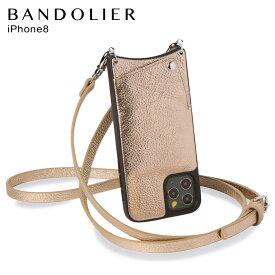 バンドリヤー BANDOLIER iPhone SE SE2 8 7 6s 6 ケース スマホ 携帯 ショルダー アイフォン エマ メンズ レディース レザー EMMA CHAMPAGNE GOLD ゴールド 10EMM
