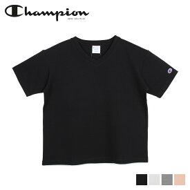 Champion チャンピオン Tシャツ 半袖 レディース V NECK T-SHIRT ブラック ホワイト グレー ブラウン 黒 白 CW-M323
