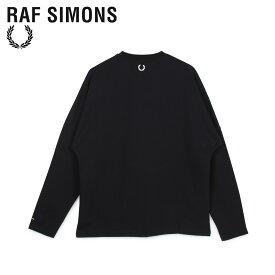 FRED PERRY RAF SIMONS フレッドペリー ラフシモンズ Tシャツ 長袖 ロンT メンズ コラボ LONG SLEEVE T-SHIRT ブラック 黒 SM8136