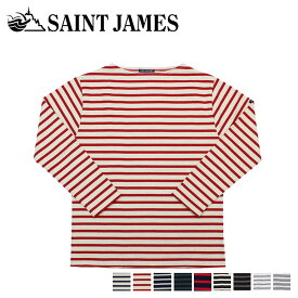 SAINT JAMES セントジェームス Tシャツ 長袖 ギルト メンズ レディース ボーダー GUILDO オフホワイト ネイビー 2501