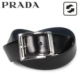 PRADA プラダ ベルト レザーベルト リバーシブル メンズ リバーシブル BELT ブラック 黒 2CC004-2AJ9 [5/8 新入荷]