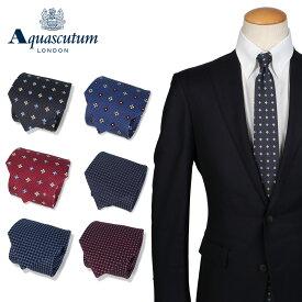 AQUASCUTUM アクアスキュータム ネクタイ メンズ イタリア製 シルク ビジネス 結婚式 TIE ブランド