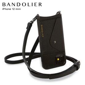バンドリヤー BANDOLIER iPhone12 mini ケース スマホ 携帯 ショルダー アイフォン エマ ピューター メンズ レディース レザー EMMA PEWTER ブラック 黒 10EMBLKP