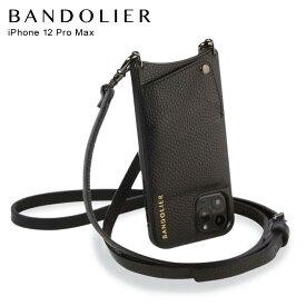 バンドリヤー BANDOLIER iPhone12 Pro MAX ケース スマホ 携帯 ショルダー アイフォン エマ ピューター メンズ レディース レザー EMMA PEWTER ブラック 黒 10EMBLKP