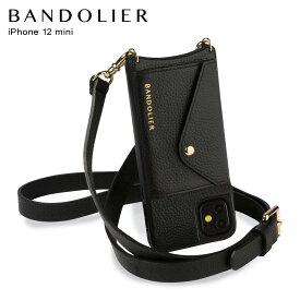 バンドリヤー BANDOLIER iPhone12 mini ケース スマホ 携帯 ショルダー アイフォン ヘイリー サイドスロット ゴールド メンズ レディース レザー HAILEY SIDE SLOT GOLD ブラック 黒 14HABLKG