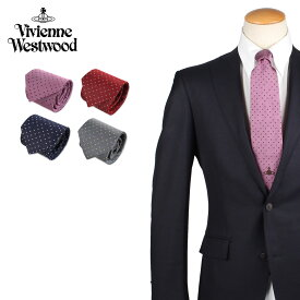 Vivienne Westwood ヴィヴィアンウエストウッド ネクタイ メンズ ロゴ ドット柄 シルク ブランド 結婚式 TIE 11555 ブランド