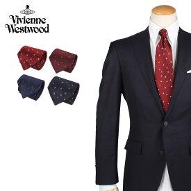 Vivienne Westwood ヴィヴィアンウエストウッド ネクタイ メンズ ロゴ ドット柄 シルク ブランド 結婚式 TIE 11558 ブランド