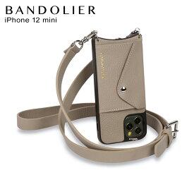 バンドリヤー BANDOLIER iPhone12 mini ケース スマホ 携帯 ショルダー アイフォン ヘイリー グレージュ メンズ レディース HAILEY GREIGE 14HALGYS