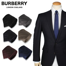 BURBERRY バーバリー ネクタイ メンズ シルク ビジネス 結婚式 TIE ブラック グレー ネイビー ベージュ レッド ブルー 黒 ブランド