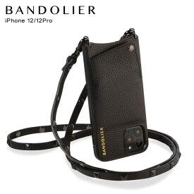 バンドリヤー BANDOLIER iPhone12 12 Pro ケース スマホ 携帯 ショルダー アイフォン SARAH BLACK メンズ レディース レザー サラ ブラック 黒 10SABLKP