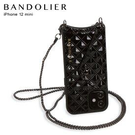 バンドリヤー BANDOLIER iPhone12 mini ケース スマホ 携帯 ショルダー アイフォン シーラ メンズ レディース SHEILA BLACK ブラック 黒 10SHBLKP