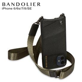 バンドリヤー BANDOLIER iPhone SE SE2 8 iPhone 7 6s ケース スマホ 携帯 ショルダー アイフォン ボビー アーミー グリーン メンズ レディース BOBBY ARMY GREEN ブラック 黒 10BOBLKP