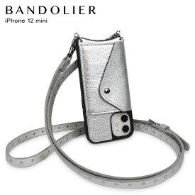 バンドリヤー BANDOLIER iPhone 12 mini ケース スマホ 携帯 ショルダー アイフォン ニコル リッチ シルバー メンズ レディース 日本限定 NICOLE RICH SILVER 10NCSLVS