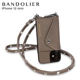 バンドリヤー BANDOLIER iPhone 12 mini ケース スマホ 携帯 ショルダー アイフォン サラ トープ メンズ レディース SARAH TAUPE ブラウン 10SADBRS