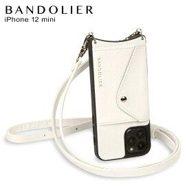 バンドリヤー BANDOLIER iPhone 12 mini ケース スマホ 携帯 ショルダー アイフォン ドナ サイドスロット メンズ レディース DONNA SIDE SLOT WHITE ホワイト 白 14DON