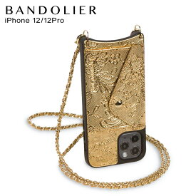 バンドリヤー BANDOLIER iPhone12 12 Pro ケース スマホ 携帯 ショルダー アイフォン リリー サイド スロット ゴールド レース メンズ レディース LILY SIDE SLOT GOLD LACE 14LIGLDG