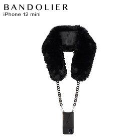 バンドリヤー BANDOLIER iPhone12 mini ケース スマホ 携帯 ショルダー アイフォン ノラ フォ ファー メンズ レディース NORAH FAUX FUR BLACK ブラック 黒 14NOBLKP