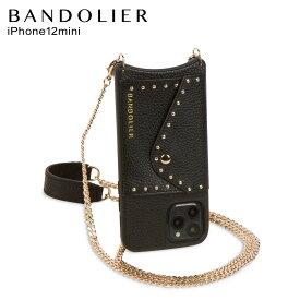 バンドリヤー BANDOLIER iPhone12 mini ケース スマホ 携帯 ショルダー アイフォン モナ サイド スロット ブラック メンズ レディース MONA SIDE SLOT BLACK 黒 14MOBLKG