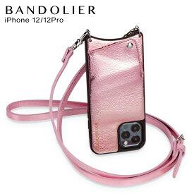 バンドリヤー BANDOLIER iPhone 12 Pro ケース スマホ 携帯 ショルダー アイフォン エマ メタリックピンク メンズ レディース EMMA METALLIC PINK ピンク 10EMM