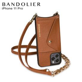 バンドリヤー BANDOLIER iPhone11 Pro ケース スマホ 携帯 ショルダー アイフォン レナ サイド スロット シエンナ メンズ レディース LENA SIDE SLOT SIENNA ブラウン 14LELBRG