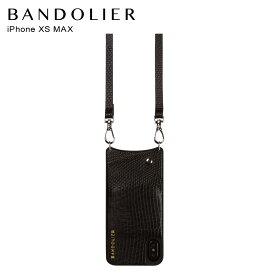バンドリヤー BANDOLIER iPhone XS MAX ケース スマホ 携帯 ショルダー アイフォン エマ ウェーブ メンズ レディース EMMA BLACK WAVE ブラック 黒 10EMMBLKWV