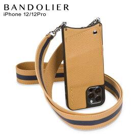 バンドリヤー BANDOLIER iPhone12 12 Pro ケース スマホ 携帯 ショルダー アイフォン アンジェラ ゴールデンロッド メンズ レディース ANGELA GOLDENROD ベージュ 10AGL