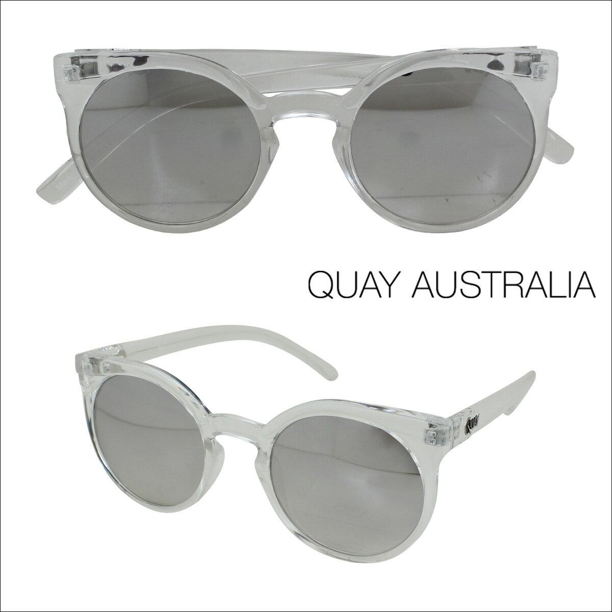 【訳あり】 キーアイ オーストラリア QUAY AUSTRALIA サングラス クリア×シルバー レディース 【返品不可】