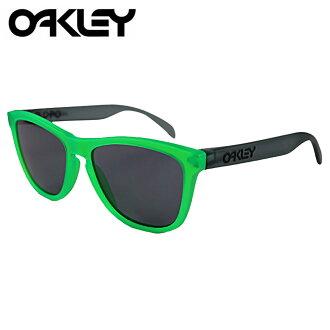 [卖出] 奥克利奥克利太阳镜 Frogskins 青蛙皮肤眼镜 24 286 绿灯黑黑男人的女人