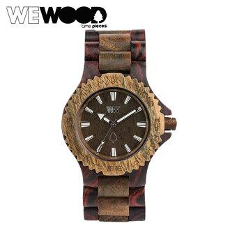 运用 WEWOOD 手表日期 [军队布朗] 布朗军队天然木材男装女装日期新手表手表