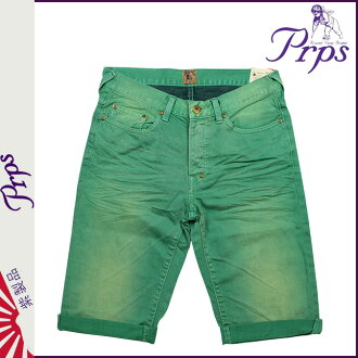 ピーアールピーエス PRPS denim shorts RAMBLER SKINNY FIT DENIM SHORT PANTS SHORTS shorts shorts short bread shorts cotton men's 2013 new