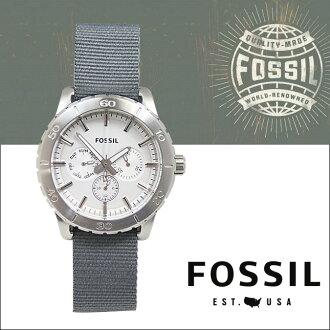 化石化石手表男士计时 40 毫米手表手表 BQ1623 银色灰色计时表 [6-25 新股] [定期] ★ ★