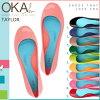 奥卡 b.Okabe 平底的芭蕾舞鞋 9 色] 泰勒泰勒妇女新舒适雨鞋凉鞋
