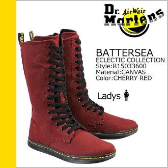 博士马滕斯 Dr.Martens 14 孔靴 [樱桃红色] R15033600 巴特西帆布女性