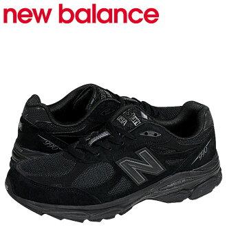 紐巴倫new balance M990TB3運動鞋D懷斯反毛皮革網絲黑色人