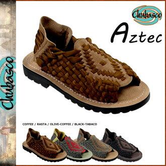 Chubasco Chubasco 凉鞋阿兹台克人冲浪编织男士麂皮绒尼龙