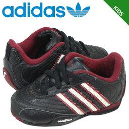 [9000雙adidas Originals愛迪達原始物運動鞋嬰兒小孩GOODYEAR STREET I 667578鞋黑色的]