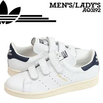 阿迪达斯原件阿迪达斯原件斯坦史密斯舒适运动鞋斯坦史密斯 CF AQ3192 男式女式鞋子是白色 [8/5 回股票]