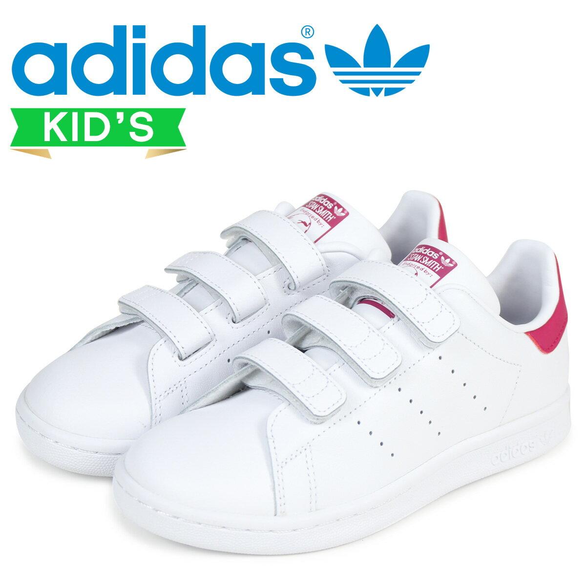 adidas Originals スタンスミス キッズ アディダス スニーカー STAN SMITH CF C B32706 靴 ホワイト