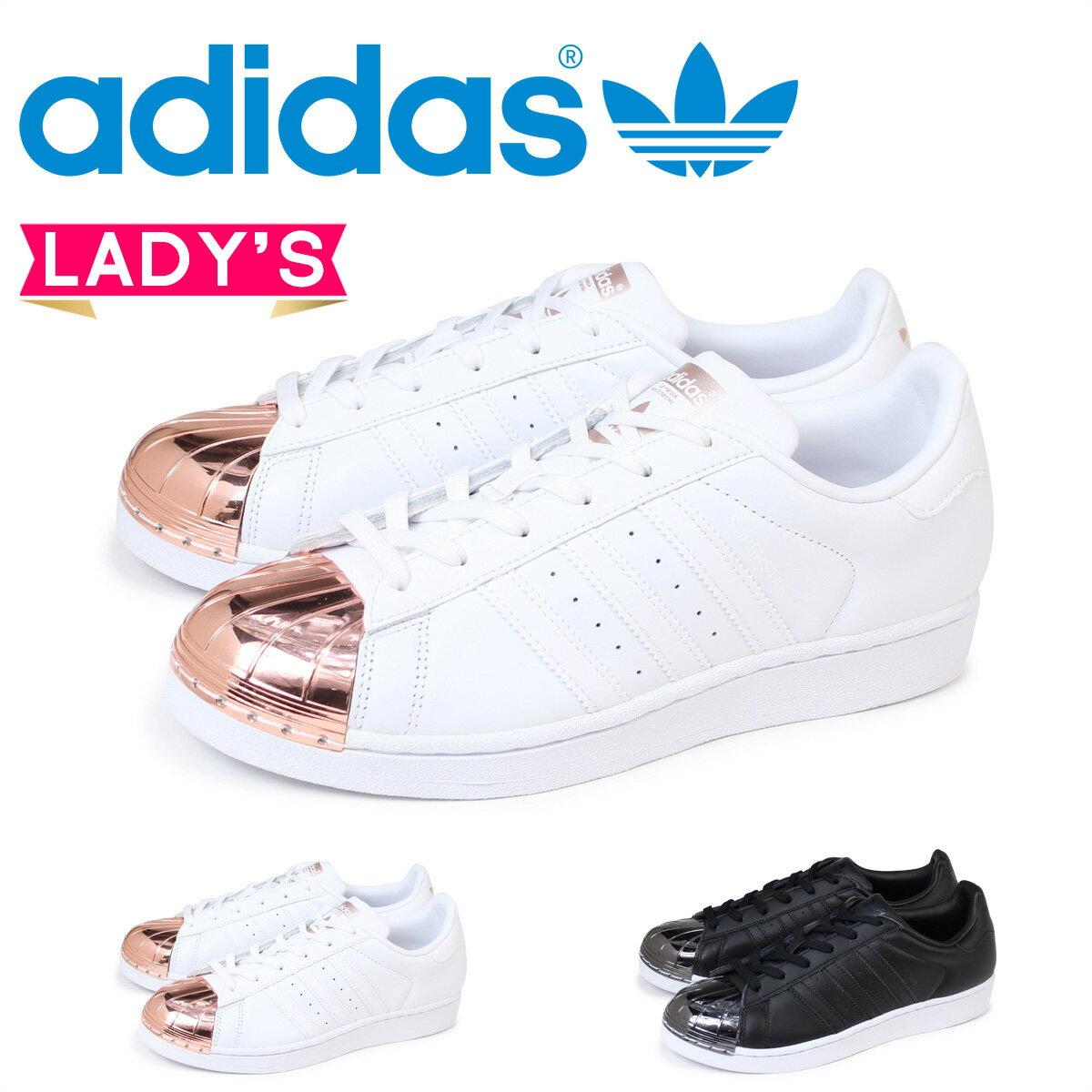 adidas スーパースター レディース スニーカー アディダス Originals SUPERSTAR METAL TOE W BY2882 BY2883 靴 ホワイト ブラック オリジナルス