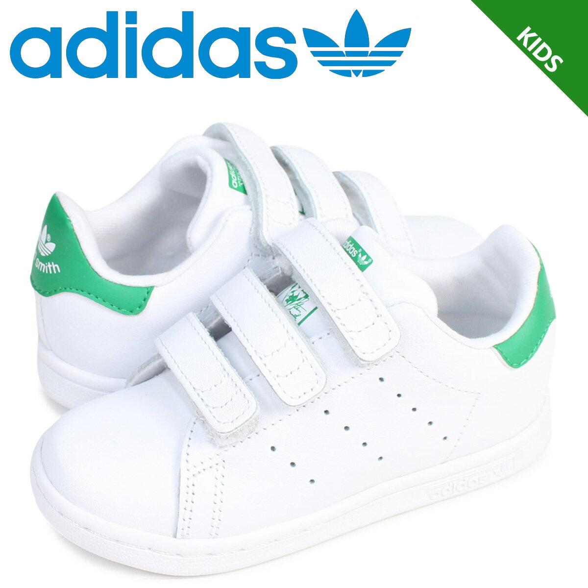 adidas Originals スタンスミス ベルクロ キッズ ベビー アディダス スニーカー STAN SMITH CF I BZ0520 靴 ホワイト グリーン [予約商品 3/2頃入荷予定 追加入荷]