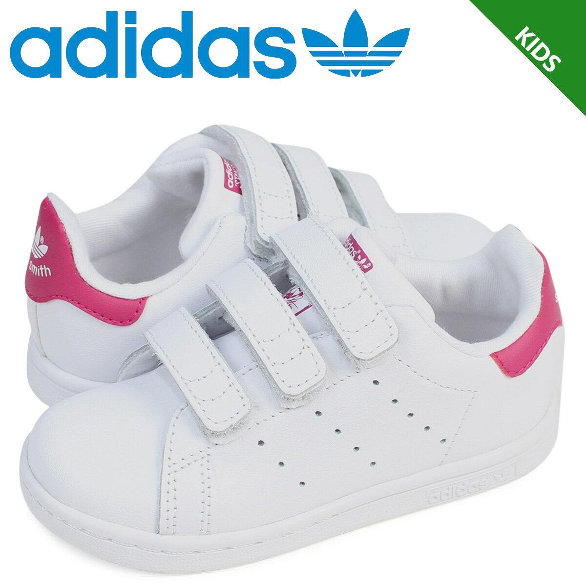 adidas Originals スタンスミス ベルクロ キッズ ベビー アディダス スニーカー STAN SMITH CF I BZ0523 靴 ホワイト ピンク [予約商品 3/2頃入荷予定 追加入荷]