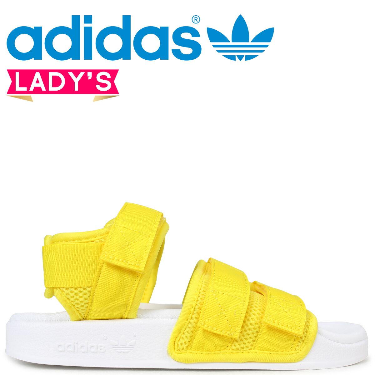 【お買い物マラソン ポイント最大30倍】adidas Originals アディレッタ アディダス サンダル ADILETTE SANDAL 2.0 W レディース CQ2673 イエロー オリジナルス [3/20 新入荷]