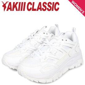 AKIII CLASSIC アキクラシック ランブル スニーカー ダッドシューズ レディース 厚底 RUMBLE ホワイト 白 AKC-0001