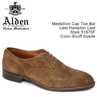 [最大2000日元OFF优惠券]ALDEN奥尔登牛津人鞋MEDALLION CAP TOE D怀斯51670F[1/13新进货]